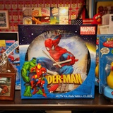 スパイダーマン ガラスウォールクロック イメージ