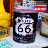 レトロ調 ペール缶スツール(ルート66BK) イメージ