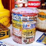 レトロ調 ペール缶スツール(ナンバープレート) イメージ