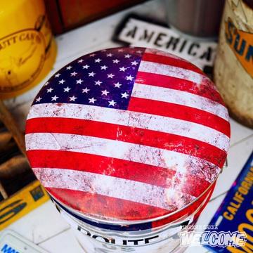 レトロ調 ペール缶スツール(ルート66星条旗) イメージ2