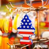 リトルツリー PVC キーチェーン(星条旗)3個セット イメージ