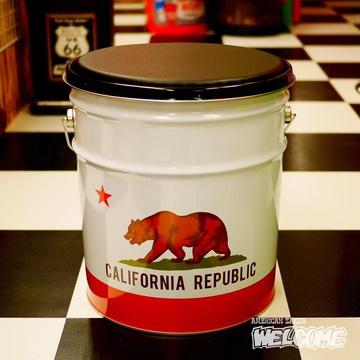 カリフォルニアリパブリック オイル缶スツール イメージ1