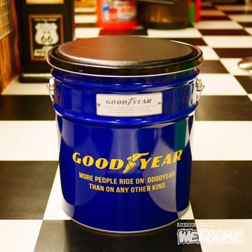 グッドイヤー オイル缶スツール イメージ1