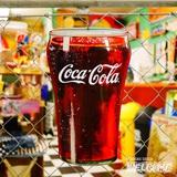 コカコーラ エンボスメタルサイン(COCA COLA GLASS) イメージ