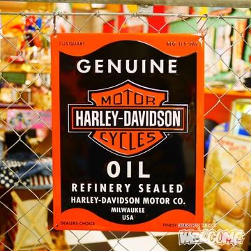ハーレー エンボスメタルサイン(OIL CAN) イメージ1