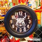 ルート66 タイヤ型壁掛け時計 イメージ