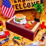 ハンバーガー ティッシュケース イメージ