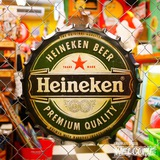 ハイネケン 王冠メタルサイン イメージ