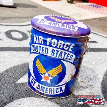 レトロ調 ペール缶スツール(USAF) イメージ1
