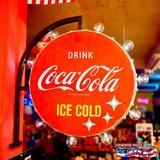 コカコーラ オフ ザ ウォール LEDサイン(丸) イメージ