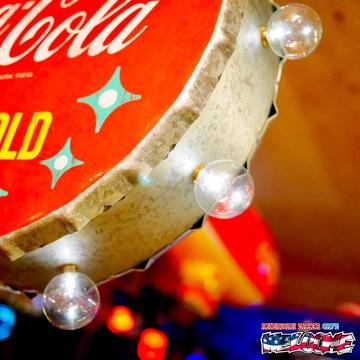 コカコーラ オフ ザ ウォール LEDサイン(丸) イメージ2