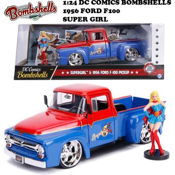 1:24 DC COMICS BOMBSHELLS 1956 FORD F100 & SUPER GIRL ミニカー イメージ3