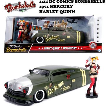 1:24 DC COMICS BOMBSHELLS 1951 MECURY & HARLEY QUINN ミニカー イメージ3