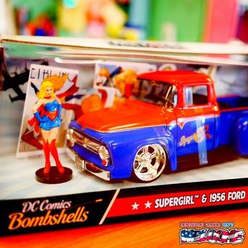 1:24 DC COMICS BOMBSHELLS 1956 FORD F100 & SUPER GIRL ミニカー イメージ2
