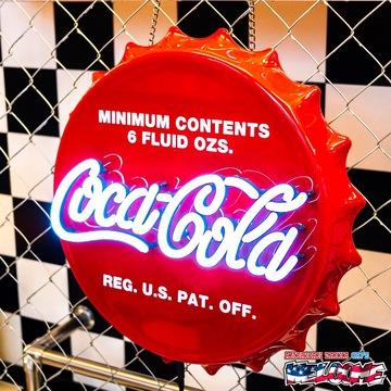 コカコーラ LEDネオンサイン(ボトルキャップ) イメージ2
