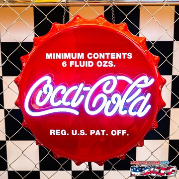 コカコーラ LEDネオンサイン(ボトルキャップ) イメージ1
